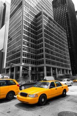 Plakat 6th Avenue of Americas na Manhattanie w Nowym Jorku Av