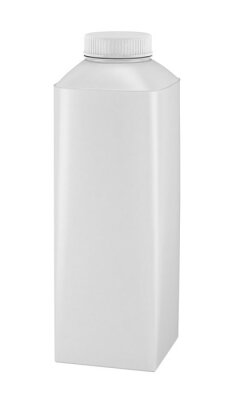 750 ml. 3D rendering blank white package with lid. Mockup for design juice, yoghurt or milk. Isolated on white