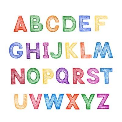 Plakat ABC dla dzieci kreskówki