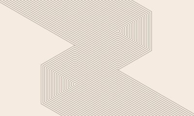 Plakat abstract art lines background. monochrome stripes