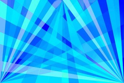 Plakat abstract background blue retro geometric pattern