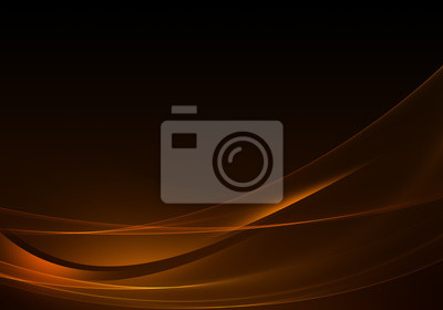 Plakat Abstract background waves. Brown and orange abstract background for wallpaper oder business card