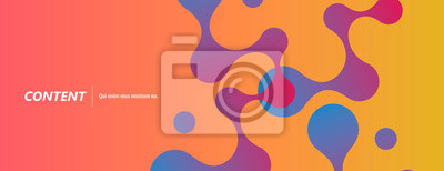 Plakat Abstract background with connecting dots and lines. Technology graphic design and network connection concept