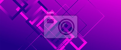 Plakat Abstract background with simple square or rectangle geometrical shapes. Geometric template with fluid gradients. Line design, technology concept. Vector Illustration For Wallpaper, Banner Background