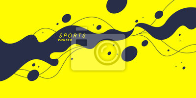 Plakat Abstract background with splashes. Modern vector illustration for sport