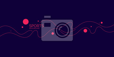 Plakat Abstract background with wavy lines. Modern vector illustration for sports