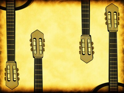 Plakat Abstract background z gitarą