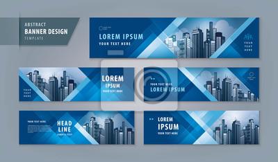 Plakat Abstract banner design web template Set, Horizontal header web banner