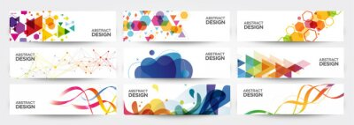 Plakat abstract banners