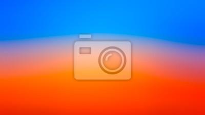 Plakat Abstract blur orange and blue gradient bakcground
