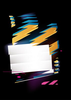 Abstract composition of rectangle and stripes