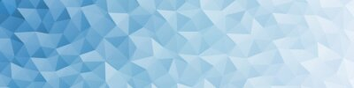 Plakat Abstract Delaunay Voronoi trianglify color diagram background illustration