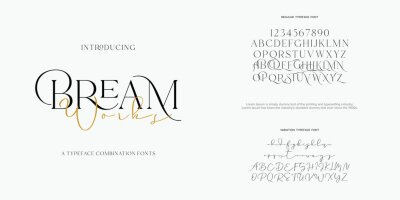 Plakat Abstract Fashion font alphabet. Minimal modern urban fonts for logo, brand etc. Typography typeface uppercase lowercase and number. vector illustration