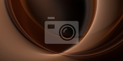 Plakat Abstract fractal beautiful chocolate brown background