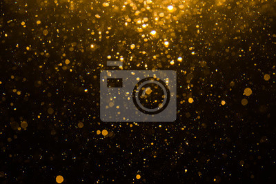Plakat Abstract gold bokeh with black