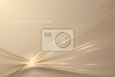 Plakat Abstract gold light threads background