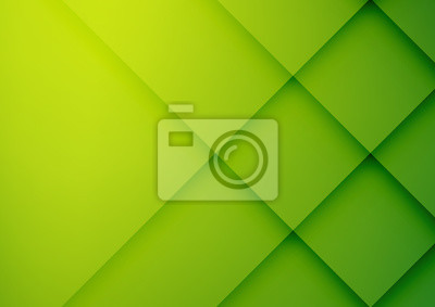 Plakat Abstract green vector background with stripes