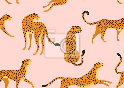 Plakat Abstract leopard pattern. Vector seamless texture. Trendy Illustration.