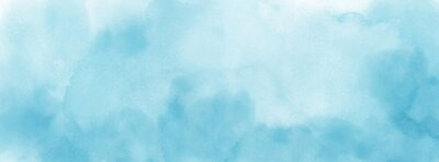 Plakat Abstract light blue watercolor for background