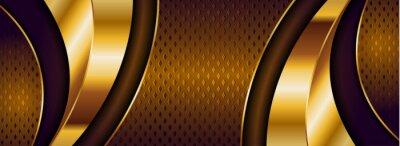 Plakat Abstract Luxury Dark Golden Brown Background Design.