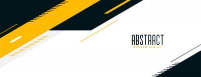 Plakat abstract memphis wide geometric banner design