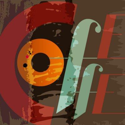 Plakat abstract menu kawa, szablon, grungy