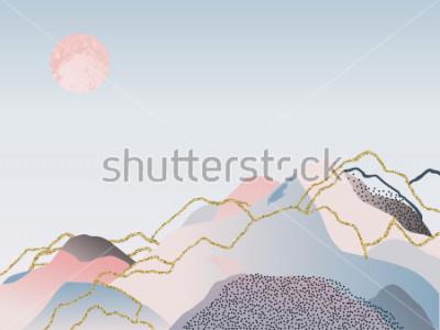 Plakat Abstract minimalne tło. Ilustracja skandynawski. Ilustracja wektorowa