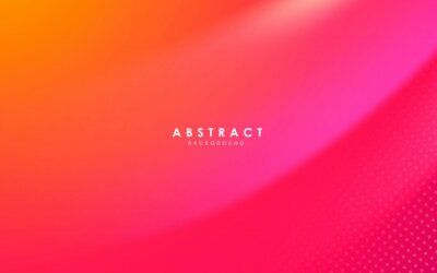 Plakat Abstract modern background gradient color. Yellow and pink gradient with halftone decoration.