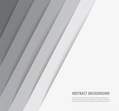 Plakat abstract modern white lines background vector illustration EPS10
