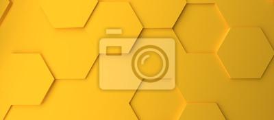 Plakat Abstract modern yellow honeycomb background