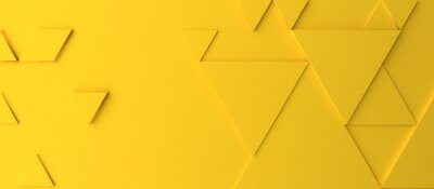 Plakat Abstract modern yellow triangle background