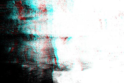 Plakat Abstract photocopy texture background, Color double exposure, Glitch