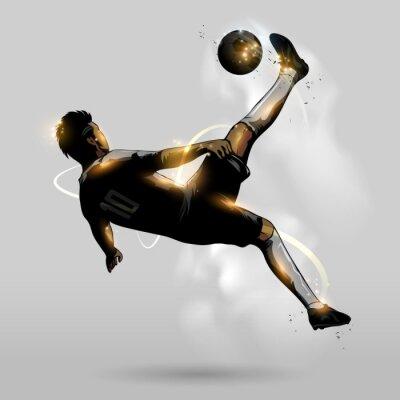 Plakat abstract soccer overhead kick