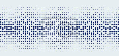 Plakat Abstract technology futuristic style big data blue geometric circle pattern on white background and texture.