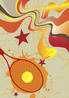 Plakat Abstract tennis poster