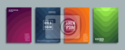 Plakat Abstract vector covers design template. Geometric gradient background. Background for decoration presentation, brochure, catalog, poster, book, magazine