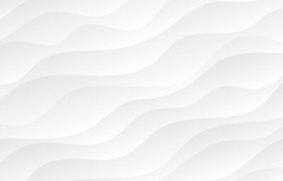 Plakat Abstract white and light gray wave modern soft luxury texture with smooth and clean vector subtle background.