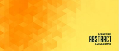 Plakat abstract yellow geometric pattern banner design