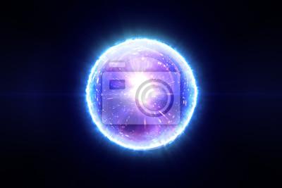 Plakat Abstrakcjonistyczna magiczna sfera z molekuł związków 3d ilustracja