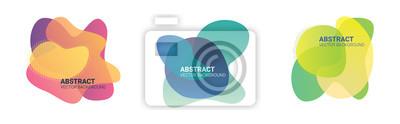 Plakat Abstrakcjonistyczna plama kształtuje kolor gradientu bezpłatną formę. Płynne organiczne kolorowe kształty. Koloru skutka miękka przemiana, wektorowa ilustracja eps10. Abstrakcyjne tło