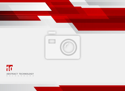 Plakat Abstrakcjonistycznej technologii czerwonego ruchu tła błyszczący geometryczny ruch.