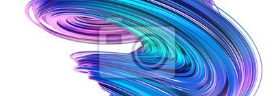 Plakat Abstrakcjonistyczny 3d rendering, kręcony kształt, nowożytna ilustracja, tło projekt