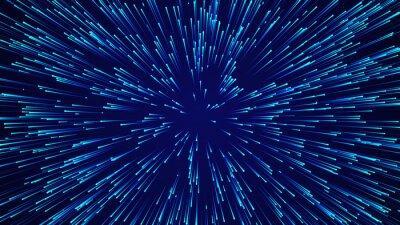 Plakat Abstrakcjonistyczny kółkowy prędkości tło. Dynamiczny wzór linii gwiaździstych. Abstrakcyjne tło przepływu danych. Renderowanie 3D.
