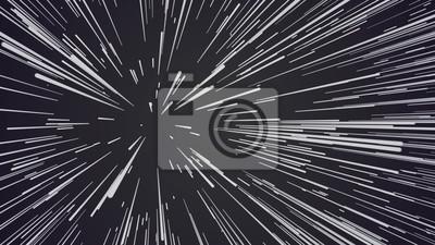 Plakat Abstrakcjonistyczny prędkości tło. Centryczny ruch szlaków gwiazdowych. Renderowanie 3D. Dynamiczne linie lub promienie wybuchu gwiazdowego. Abstrakcyjne cząstki