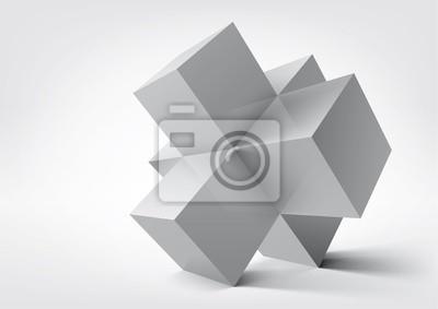 Abstrakcyjne kształty geometryczne z kostki