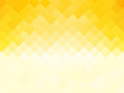 Plakat abstrakcyjne płytki żółtym tle