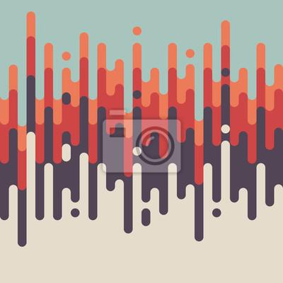 Plakat Abstrakcyjne retro zabytkowe linii wzoru tła