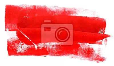 Plakat Abstrakcyjne tło z czerwonymi malowania kresek; Scalable vector