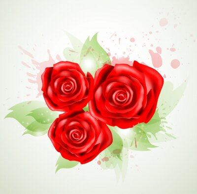 Plakat Abstrakcyjne tło z róż