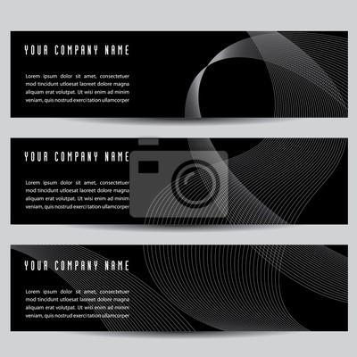 Abstrakcyjne Transparenty Poziome Do Druku Lub Internecie Plakaty Redro